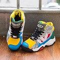 Crianças grandes Basquete Sapatos Meninos Meninas Sapatilhas Esporte de Corrida Sapatos de Caminhada Ao Ar Livre À Prova de Choque/Interior Sapatos de Treino de Basquete