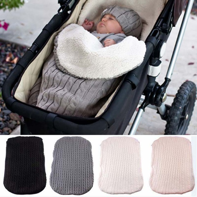 2ac2b6d6ac Gruesa bebé Swaddle Wrap de sobre recién nacido saco de dormir Bebé pañales manta  bebé cochecito