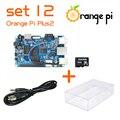 Orange Pi Плюс 2 SET12: Pi Плюс 2 + Кабель Питания + Прозрачный Акриловый Чехол + 16 ГБ Class 10 SD Card для Orange Pi за Малиновый