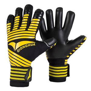 Professional New Kids Mens Goalkeeper Gloves Thick Latex Football Without Finger Protection Keeper Gloves Goalie Training Gloves(China)