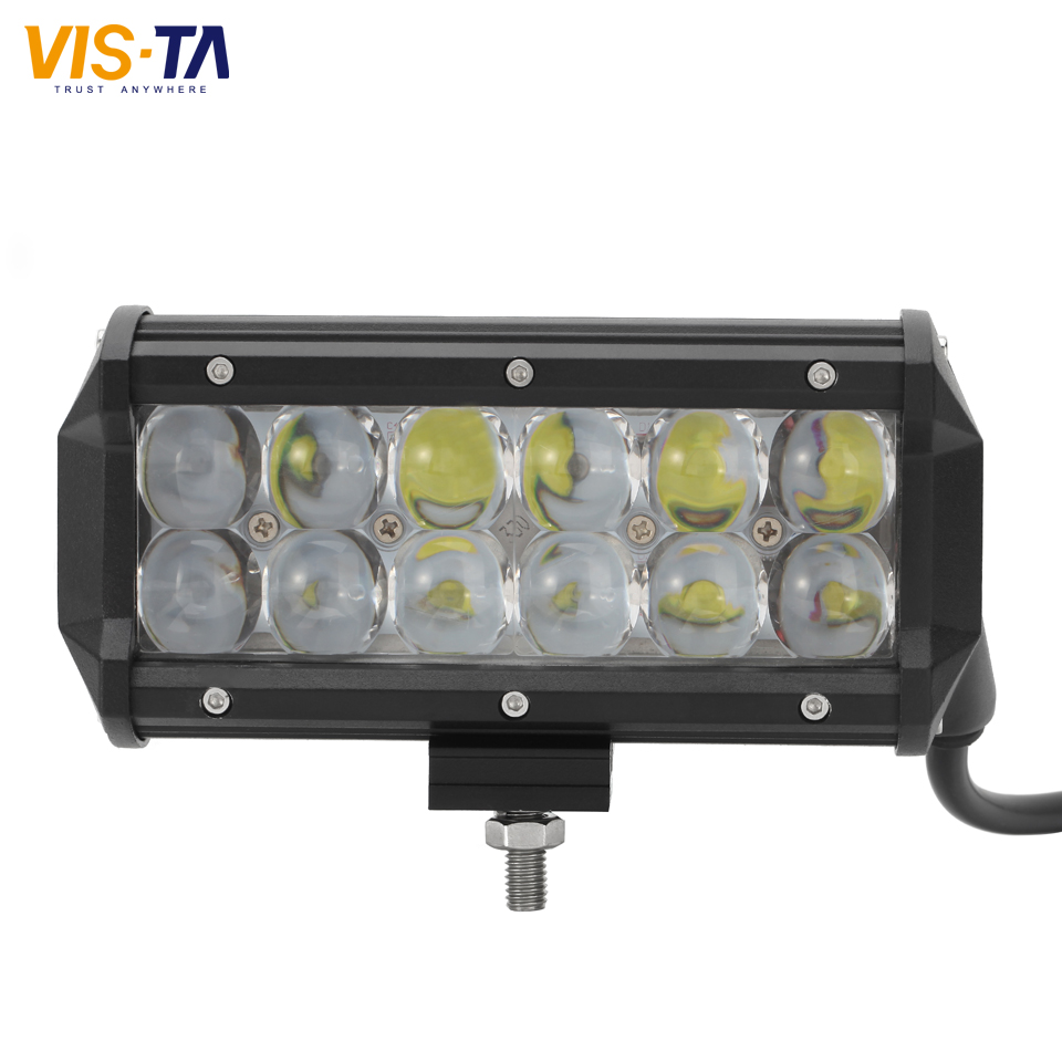 1PCS 60W 7 Inch LED Light Bar Spot/Flood Beam Work Light Offroad Fit ATV Offroad Driving Vehicle Boat Barra 12V 24V LED Lamp eyourlife 23 25 inch 120w fog lamp spot wide flood beam combo work driving led light bar for offroad suv atv 12v 24v 99