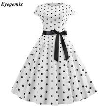 791eb500cc69b8 2019 Vrouwen Gewaad Swing Jurk Retro Pin Up Vintage 1950 s 60 s Rockabilly  Dot Zomer Vrouwelijke Jurken Elegante Tuniek vestidos.