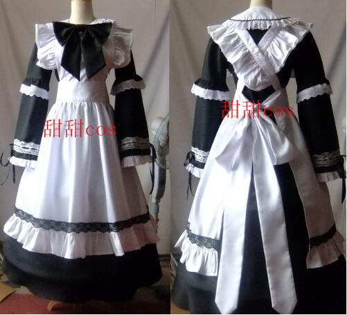 New Hot Fashion Women Halloween Cosplay Costume Gothic Lolita Long Princess Dress Maid Costumes