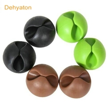 Dehyaton Cable Winder Earphone Cable Organizer Wire Storage Silicon Charger Cable USB Holder Clips for MP3