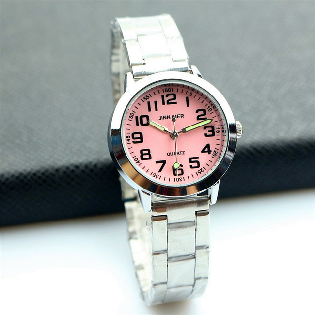 Nazeyt middle student girls 7 colors face dial lovely quartz watch women luminou