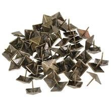 50pcs Upholstery Tack Decorative Nail Furniture Square Rivet Bronze 19x21mm