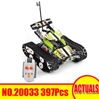 Lepin 20033 397Pcs Technic Set Radio Controlled Tracked Racer Model Building Kit Blocks Bricks Toy Gift Compatible Legoing 42065