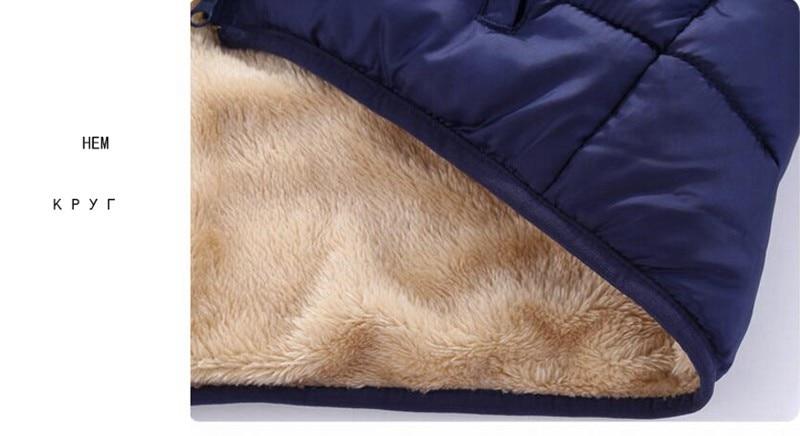 COOTELILI Fleece Winter Parkas Kids Jackets For Girls Boys Warm Thick Velvet Children's Coat Baby Outerwear Infant Overcoat (1)