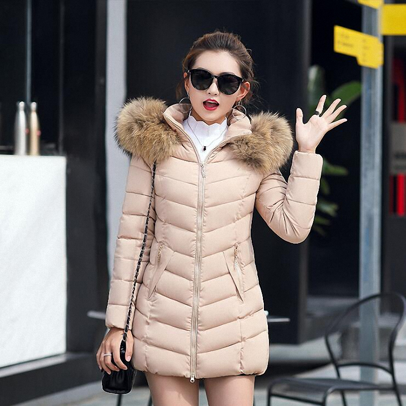 Imvation Fashion Winter Women Jacket Long Thick Warm Down Cotton Jacket Slim Coat Overcoat Parka women lady thicken warm winter coat hood parka overcoat long outwear jacket
