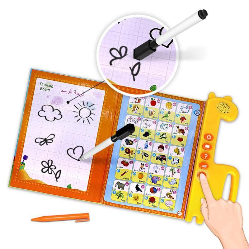 Ранняя обучающая игрушка, батарея, детский домашний подарок, игра, язык, обучающий инструмент, двуязычная обучающая игрушка, язык s, арабское обучение
