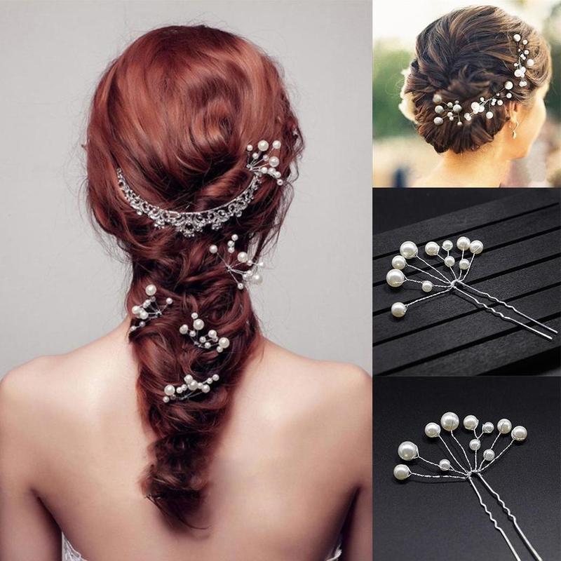 1 PC Nuptiale De Goupilles De Cheveux De Mode De Mariage De Mariée de Demoiselle D'honneur Faux Perle En Épingle À Cheveux Clip Peigne Chapeaux