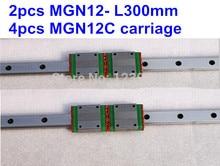 MGN12 4pcs + rail