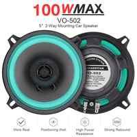 1 Uds 5 pulgadas 100W Universal Car HiFi Coaxial altavoz puerta vehículo Auto Audio música estéreo altavoces de frecuencia de rango completo para coches
