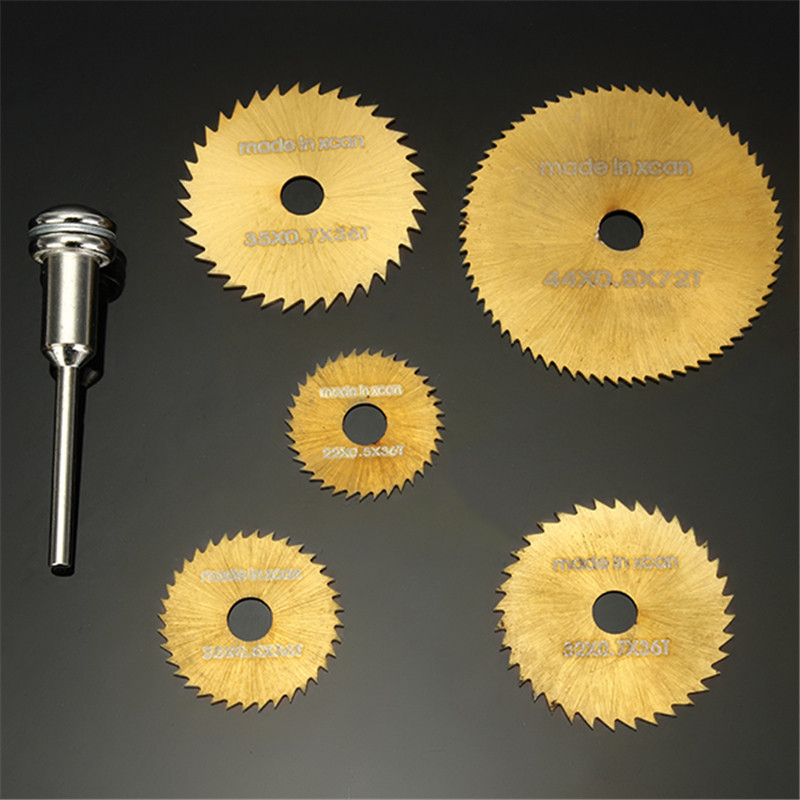 DANIU 6pcs SW-B2 HSS Circular Saw Blades Set Titanium Coated Saw Blades For Dremel Rotary Tools