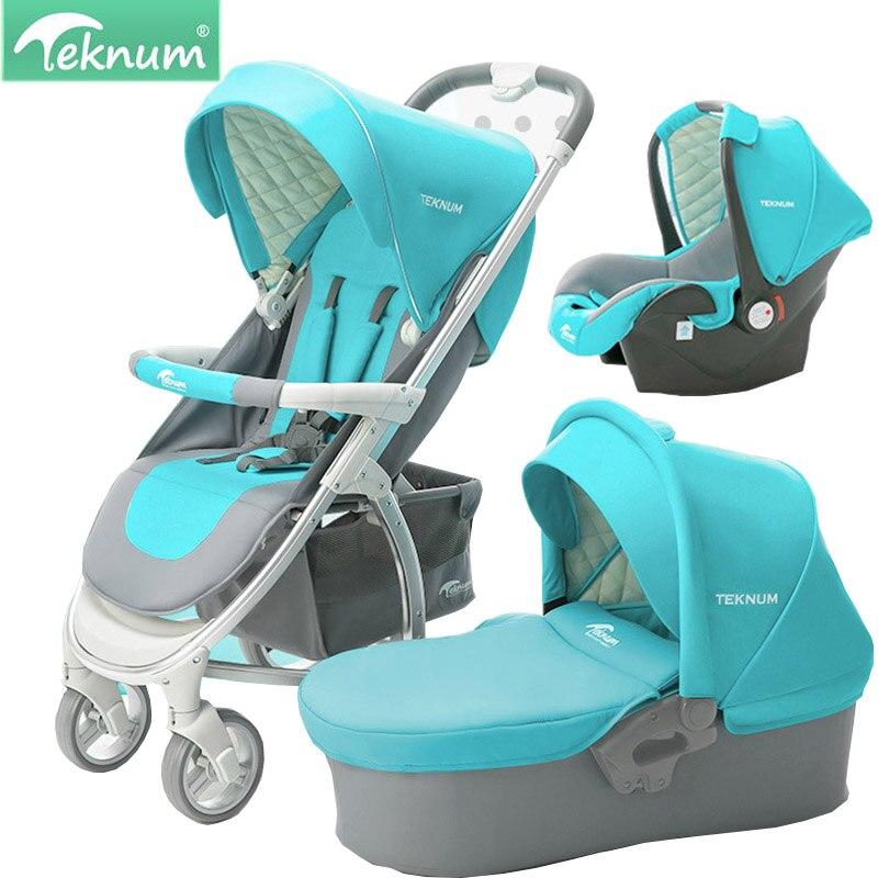 Teknum cochecito de bebé puede sentarse y reclinar pliegue alto paisaje ligero 2 en 1/3 en 1 cochecito de bebé envío gratis