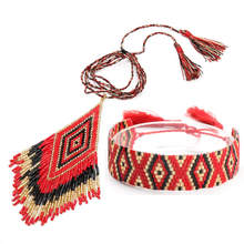 Go2hobo MIYUKI Bracelet Jewelry Sets 2019 Women Red Delica Beads Boho Necklace Jewelry Handmade Pulsera Jewelry Set Wedding Gift цены