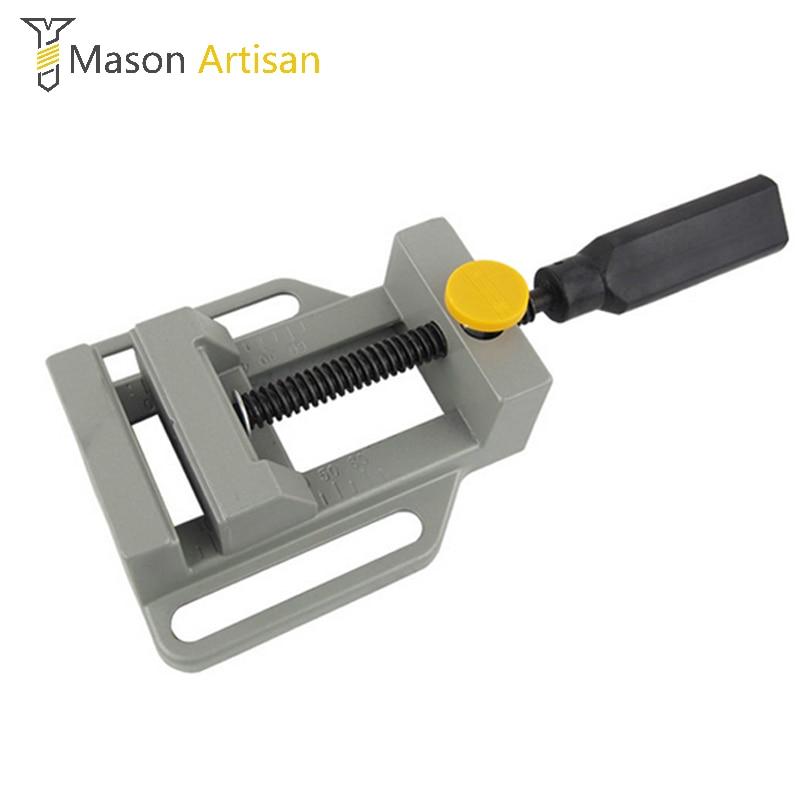 Mini morsetto piatto in alluminio per trapano Manico per supporto per incisione Banco da lavoro Utensile fai-da-te Fresatrice Morsetti manuali Banco di lavorazione del legno