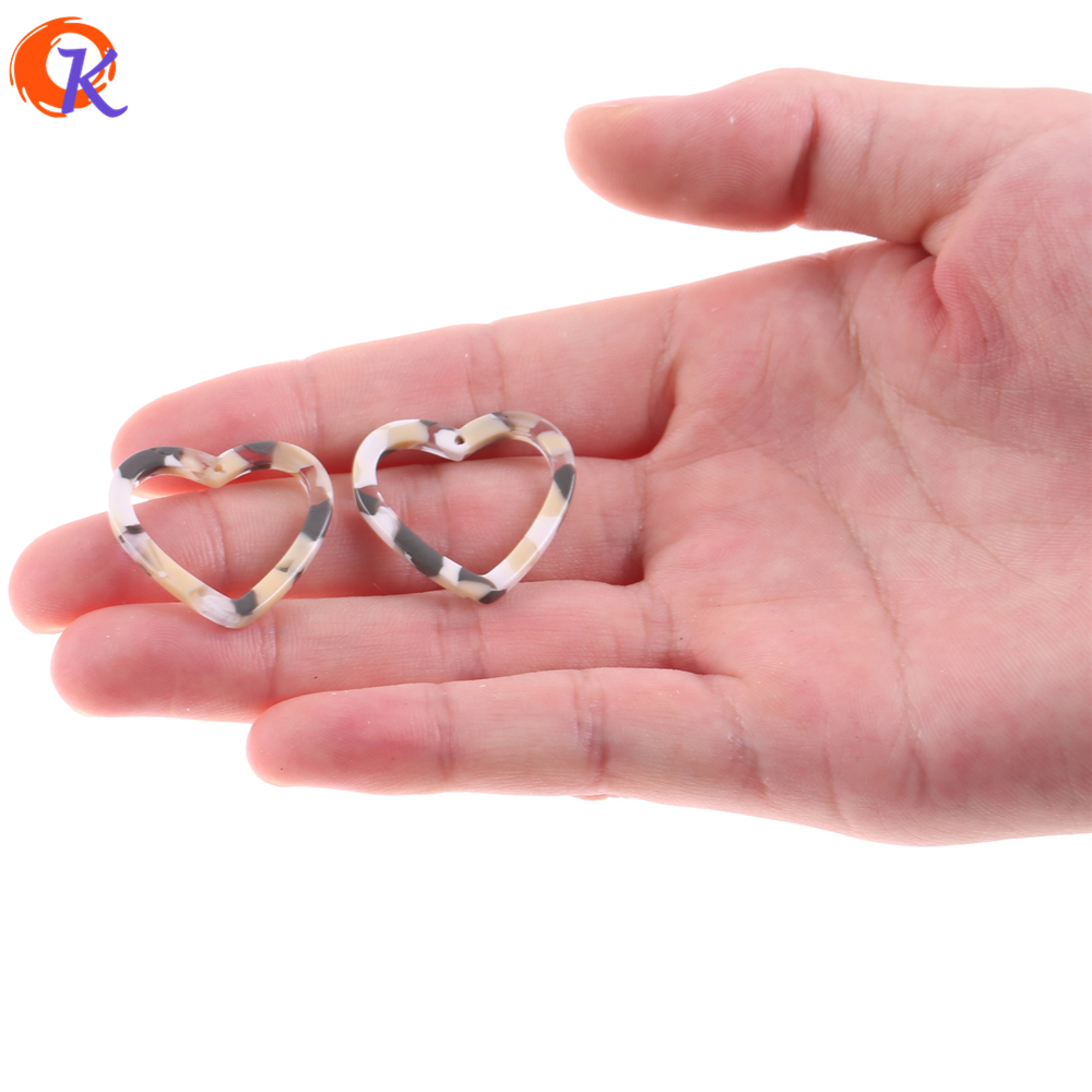 Cordial Design 26x25MM 30Pcs Earring Findings/Earrings Jewelry Making/Acetic Acid/Heart Shape/Hand Made/Jewelry Accessories