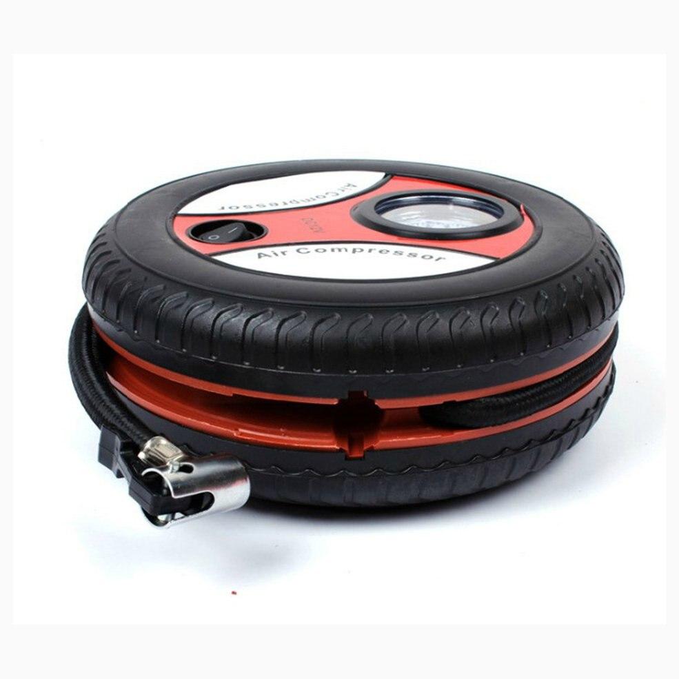 Car Mini Inflatable Pump DC12V Metal Plastic Electric Air Compressor Monitor Pump With 3 Nozzle Adapters