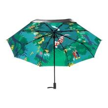 Creative Pond Carps Printing Women Lady Rain And Sun Umbrella 3 Folding 8 Ribs Sunshade UV Protection Umbrellas Guarda Chuva