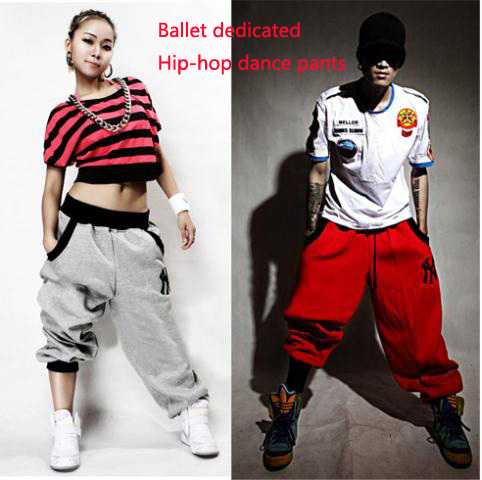 2015 Fashion Brand Winter Women Sweater Hip Hop Pants Cotton Loose Sport  Dance Harem Pants Long Trousers Sweatpants Black Gray 6f4f6441f0