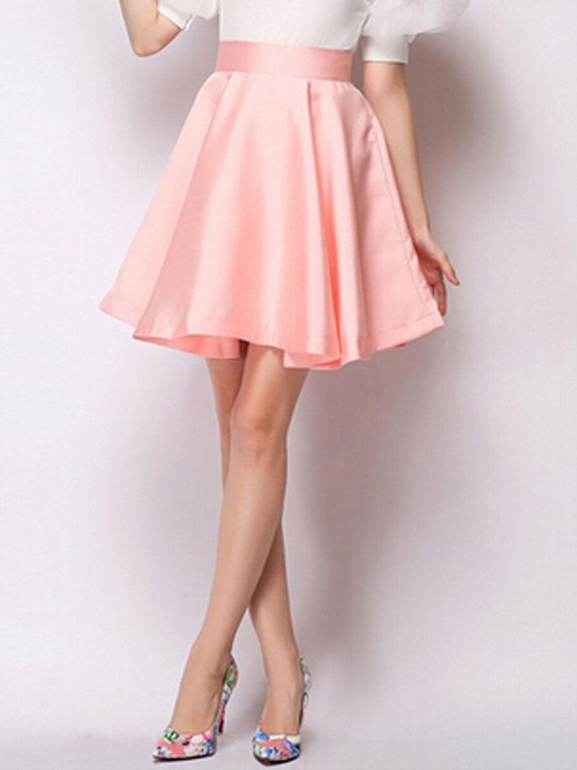 Light Pink Skater Skirt - Skirts