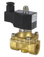 Free Shipping 5PCS 2 Way Solenoid Operated Pneumatic Air Valve Brass 1 220V AC DIN Coil 10mm dia pneumatic control air solenoid valve coil ac 220v 6va