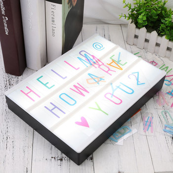 Nordic 85pcs Led Neon Box Letters Symbol Card Light Box Letters Replacement for A4 Light Up Box Kids DIY Message Letters Cards qyjsd a4 size led combination creative night light box lamp diy black letters cards usb port powered cinema light box