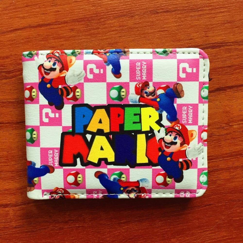 Lovely Cartoon Super Mario Wallet Women Men Casual Short Wallet slim purse Card Holder Teenagers Money Cash Bag W610