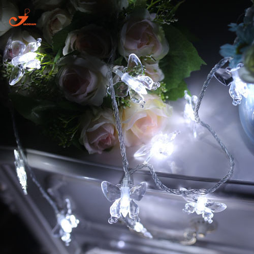 Butterfly String Lighting LED Patio Lights Party Wedding Decorative Garden  Christmas Lights Spring Decoration 3pcs /