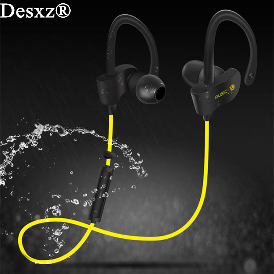 Desxz Sports Bluetooth Headsets Wireless In-ear handphone Stereo Earphone with Microphone for iPhone Samsung Xiaomi original xiaomi hybrid earphone 1more mi headphones headset 2 unit in ear circle iron mixed piston 4 for iphone samsung lg htc
