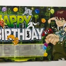 2 шт. Бен 10 день рождения плакат или праздник обои для вечерние партии поставщиков обувь мальчиков любимый весело домашний декор