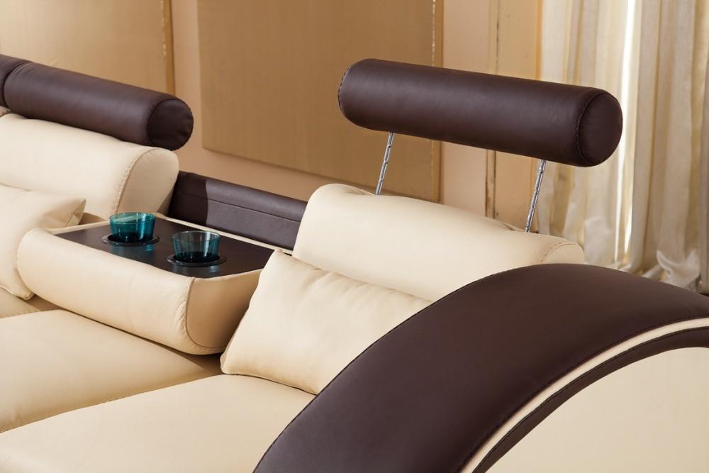 2015 designer modern top graded cow Recliner leather sofa set Living - Furniture - Photo 3