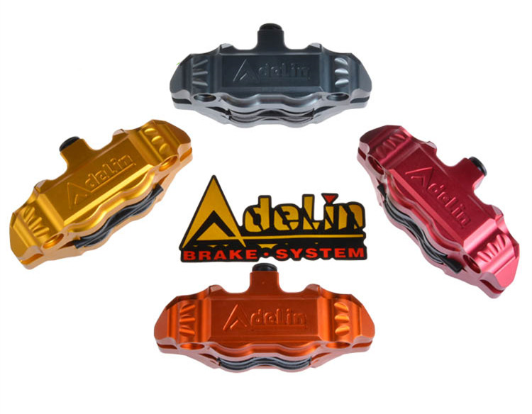 Adelin adl14 Motorcycle Brake Caliper 4 Piston cnc aluminum brake pump for scooter modification FOR YAMAHA keoghs real adelin 260mm floating brake disc high quality for yamaha scooter cygnus modify