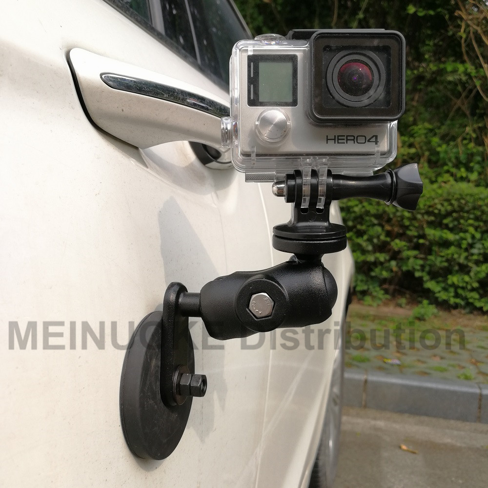 magnetic magnet car motorcycle suction cup mount w/ 1 inch ball joint for sony garmin gopro action camera camcoders smartphone lf07 car mount holder w suction cup for iphone samsung sony htc lg black