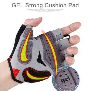 Image 3 - GIYO Summer Cycling Gloves Gel Half Finger Shockproof Sport Gym Gloves MTB Mountain Bicycle Bike Gloves For Men/women Antil skip