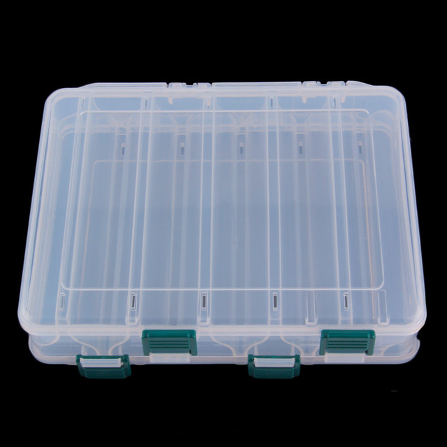 10 Compartment Double Sided Fishing Lures Tackle Hooks Baits Case Storage Box Fsih Equipment Portable Tackle Boxes Container
