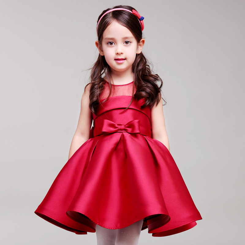все цены на High-quality Korean children's dress princess dress birthday dress girl host piano dance performance онлайн