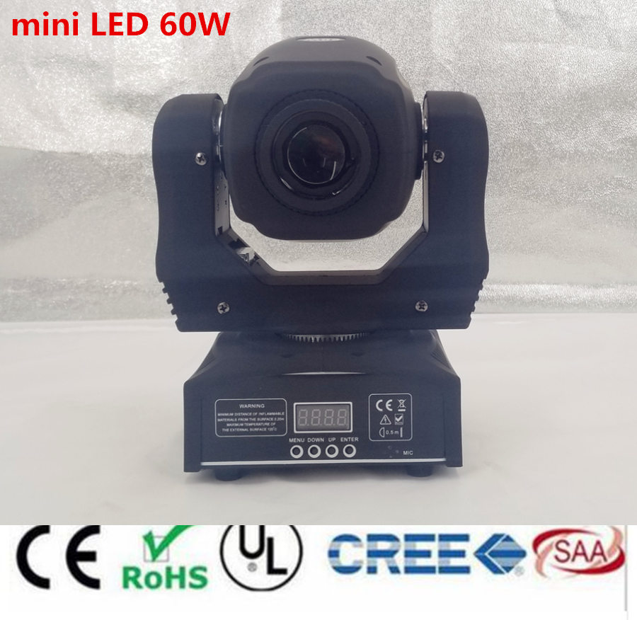 60W LED Spot Moving Head Light  LED DJ Beam Light Led gobo led 60W mini led moving head light super bright LED DJ Spot Light цена