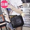2016 new Pu washed casual leather shoulder bag messenger bag bag PU bag retro Korean female fashion handbags