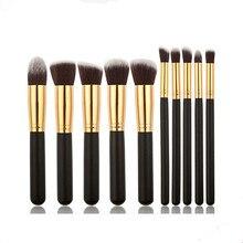 hot deal buy professional makeup brush set 10pcs high quality makeup tools kit