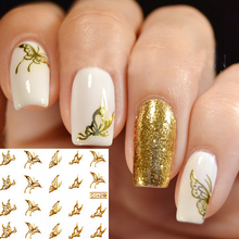 1 sheet Vivid Butterfly Pattern Nail Art Water Decals Transfers Sticker C042 #13671