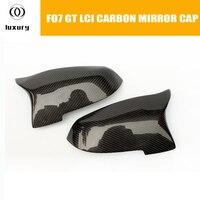 M5 estilo f07 fibra de carbono frente espelho lateral capa para bmw f07 gt 535i 550i 530d 535d lci 2014 2014 2016