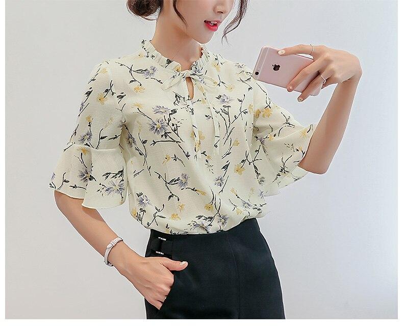 0cadb0abfd6b WayToIan Blouses 2018 Summer Tops Women S Elegant Ladies Chiffon Blouse  Plus Size Women Clothing Casual Tops Shirt -in Blouses   Shirts from Women s  ...