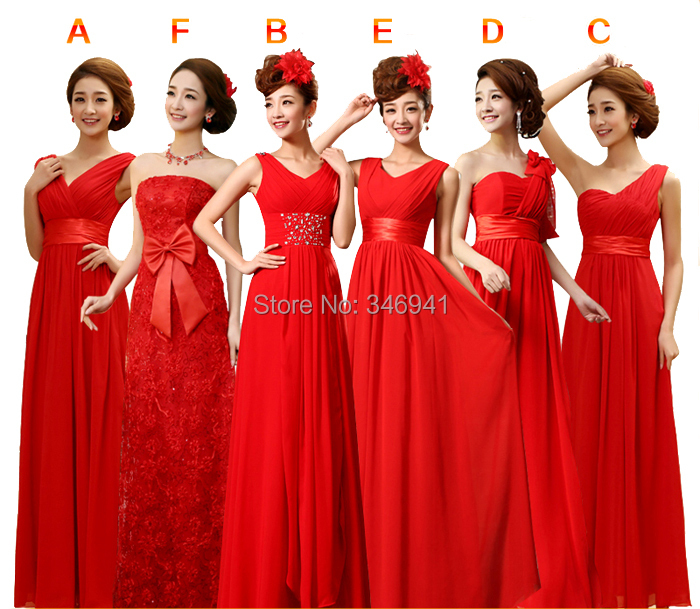Red Bridesmaid Dresses by Color