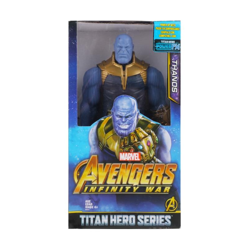 30 см Marvel Мстители эндшпиль танос Человек-паук Халк Железный человек Капитан Америка Тор Росомаха Веном Фигурка Игрушки Кукла Детская - Цвет: Thanos with box