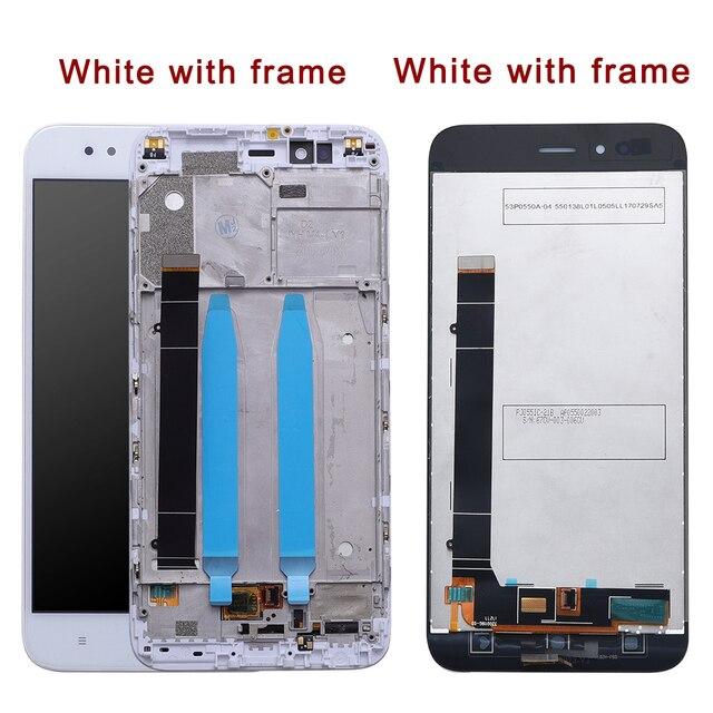 Xiao mi mi A1 lcd EKRAN çerçeve ile Ekran + 10 dokunmatik Panel Için Xiao mi mi A1 lcd ekran Digitizer dokunmatik ekran Parçaları