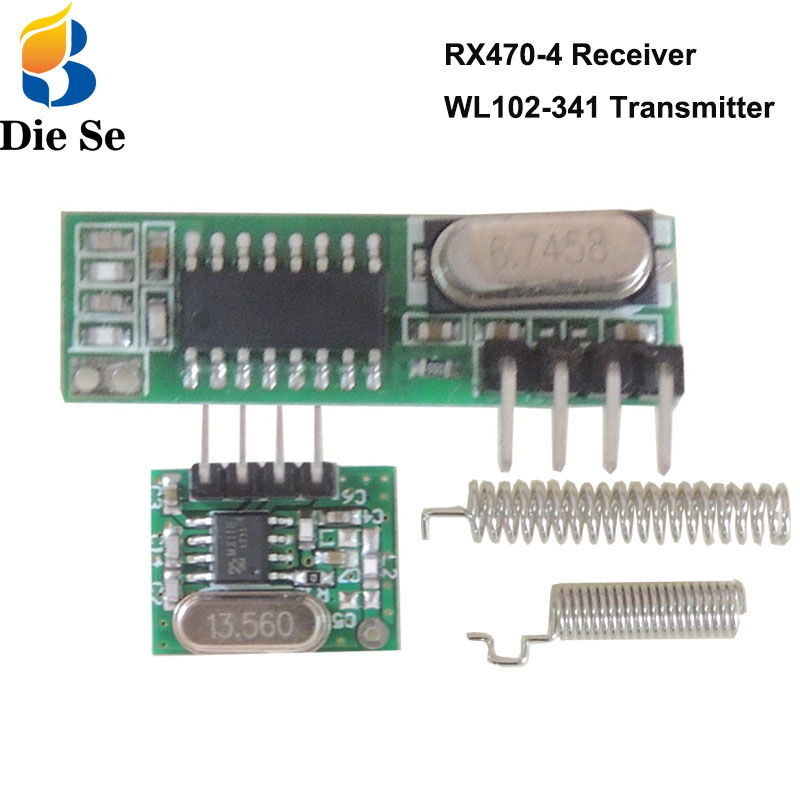 433Mhz RF Receiver And Transmitter Module 433Mhz Remote Controls For Arduino Uno Wireless Module DIY Kits Superheterodyne 433