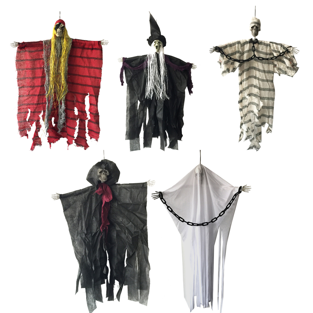 24 inci 60cm Halloween Hanging Pirate Witch Banduan Reaper Ghost Hantu House Escape Horror Halloween Hiasan