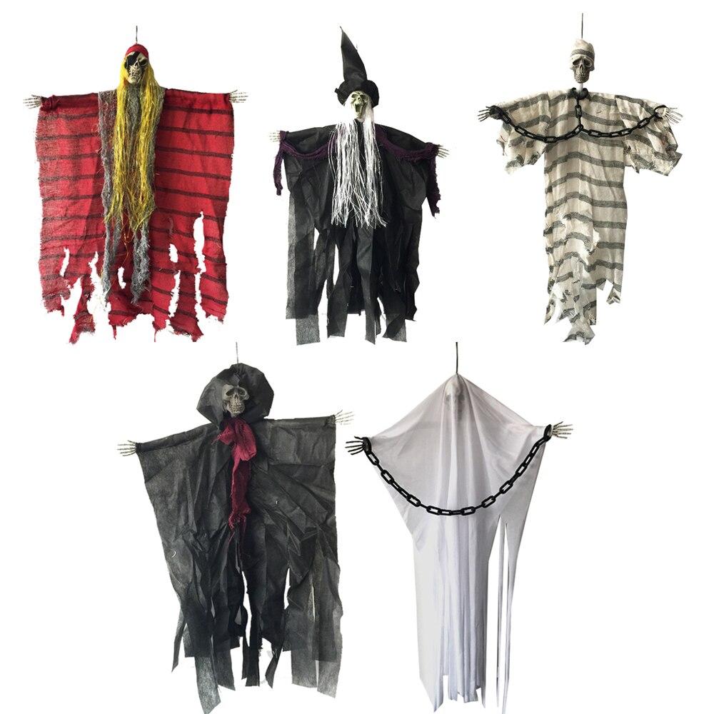 24 pollice 60 cm Halloween Hanging Pirata Strega Prigioniero Reaper Fantasma Haunted House Fuga Horror Halloween Decorazioni